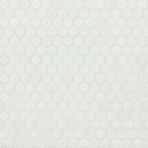 "360 3/4"" x 3/4"" Floor and Wall Mosaic in White Matte"