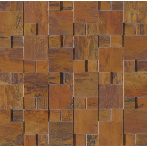 "Acadia 11"" x 11"" Decorative Tile in Birch Copper"