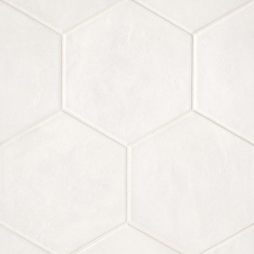 "Allora 8.5"" x 10"" Floor & Wall Tile in Solid White"