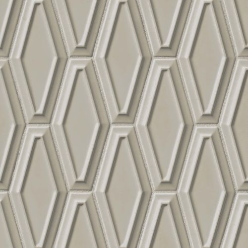 "Costa Allegra 4"" x 9"" Decorative Tile in Cinder"