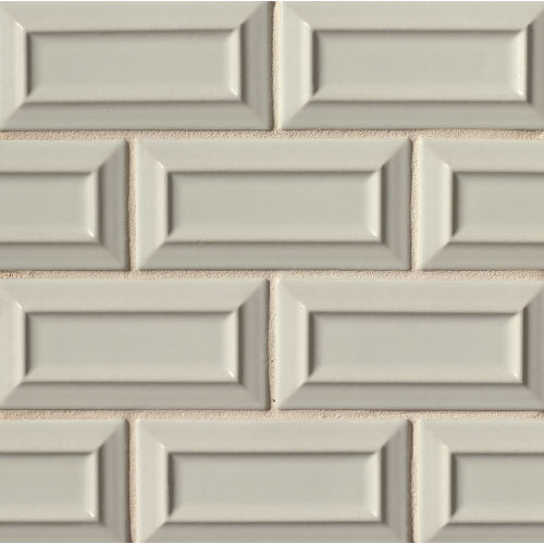 "Costa Allegra 3"" x 6"" Decorative Tile in Silver Strand"