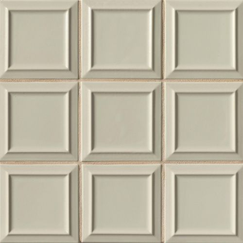 "Costa Allegra 6"" x 6"" x 5/16"" Decorative Tile in Silver Strand"