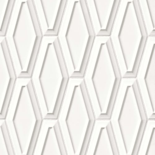 "Costa Allegra 4"" x 9"" Decorative Tile in White Sand"