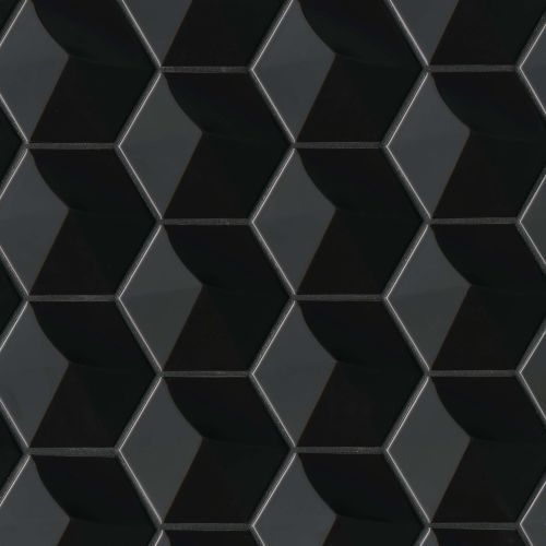 "Hedron 4"" x 5"" Wall Tile in Black"