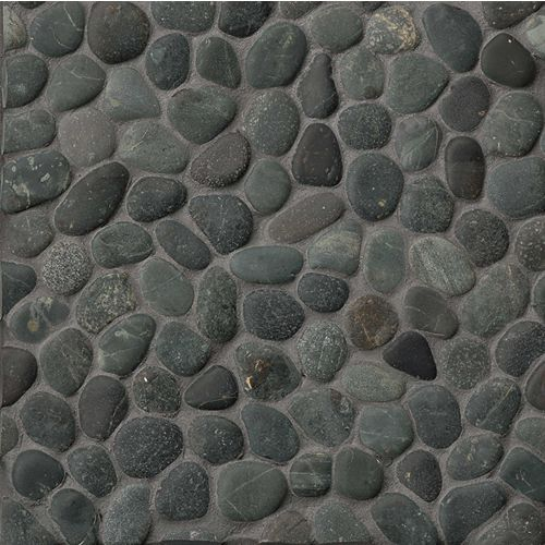 Hemisphere Floor & Wall Mosaic in Ocean Black