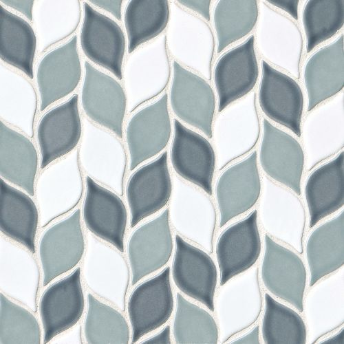 "Provincetown 2-13/16"" x 1-7/16"" Floor & Wall Mosaic in Atlantic Blend"