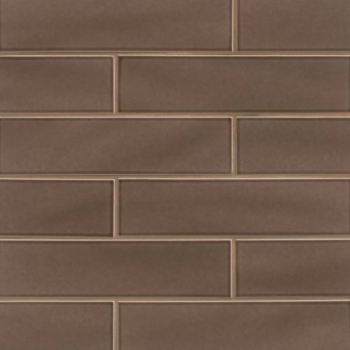 "Provincetown 4"" x 16"" Floor & Wall Tile in Brewster Brown"