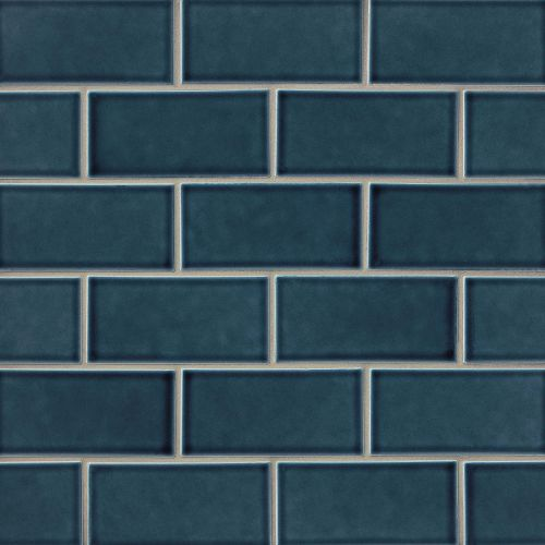 "Provincetown 3"" x 6"" Floor & Wall Tile in Cape Cod Blue"