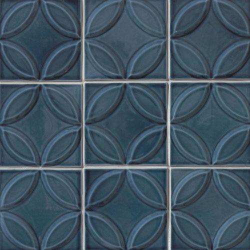"Provincetown 6"" x 6"" x 7/16"" Decorative Tile in Cape Cod Blue"
