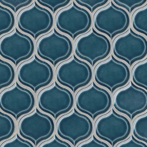 "Provincetown 3-1/16"" x 2-7/8"" Wall Mosaic in Cape Cod Blue"