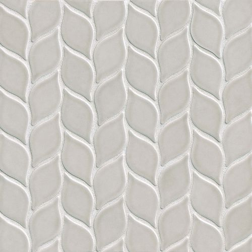 "Provincetown 2-13/16"" x 1-7/16"" Floor & Wall Mosaic in Dolphin Grey"