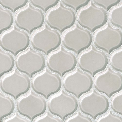 "Provincetown 3-1/16"" x 2-7/8"" Wall Mosaic in Dolphin Grey"