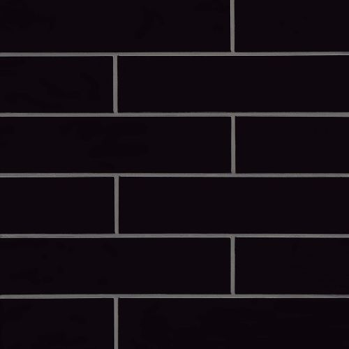 "Provincetown 4"" x 16"" Floor & Wall Tile in Fleet Black"