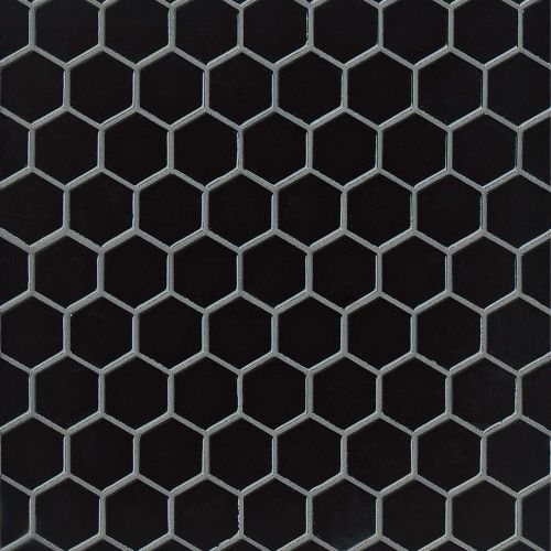 "Provincetown 1-11/16"" x 1-1/2"" Floor & Wall Mosaic in Fleet Black"