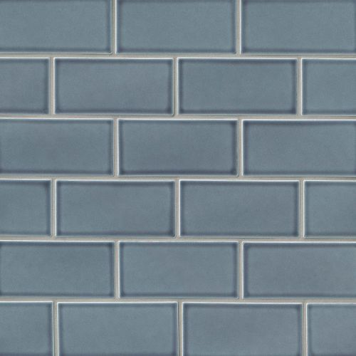 "Provincetown 3"" x 6"" Floor & Wall Tile in Harbor Blue"