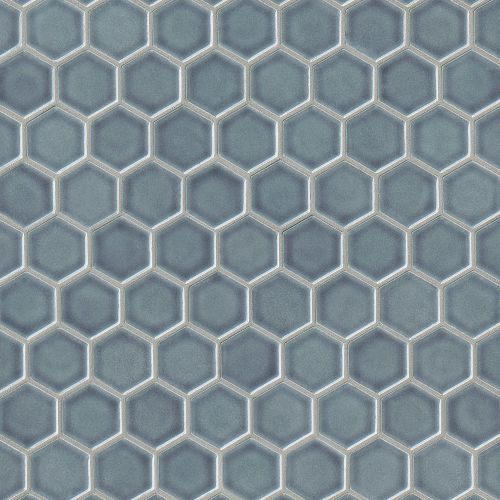"Provincetown 1-11/16"" x 1-1/2"" Floor & Wall Mosaic in Harbor Blue"
