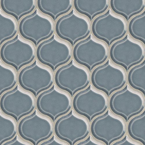 "Provincetown 3-1/16"" x 2-7/8"" Wall Mosaic in Harbor Blue"