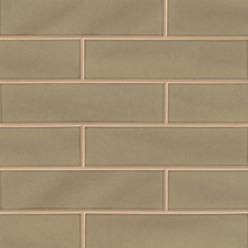 "Provincetown 4"" x 16"" x 3/8"" Floor and Wall Tile in Highland Brown"