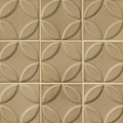 "Provincetown 6"" x 6"" x 7/16"" Decorative Tile in Highland Brown"