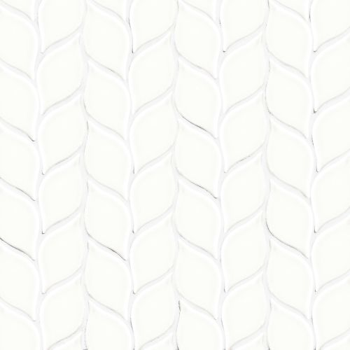 "Provincetown 2-13/16"" x 1-7/16"" Floor & Wall Mosaic in Porch White"