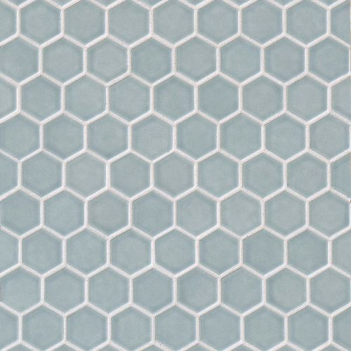 "Provincetown 1-11/16"" x 1-1/2"" Floor & Wall Mosaic in Surfside Blue"