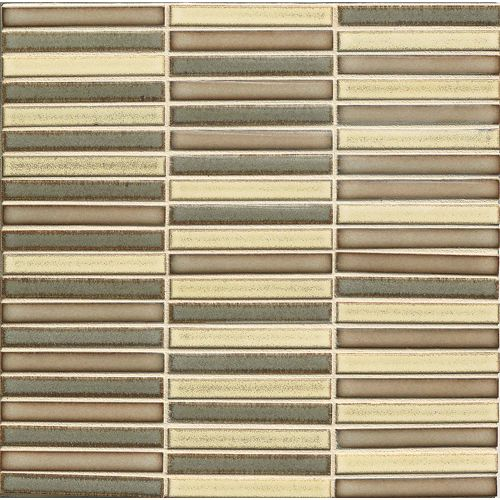 "Shizen 1/2"" x 4"" Floor & Wall Mosaic in Heritage Blend"