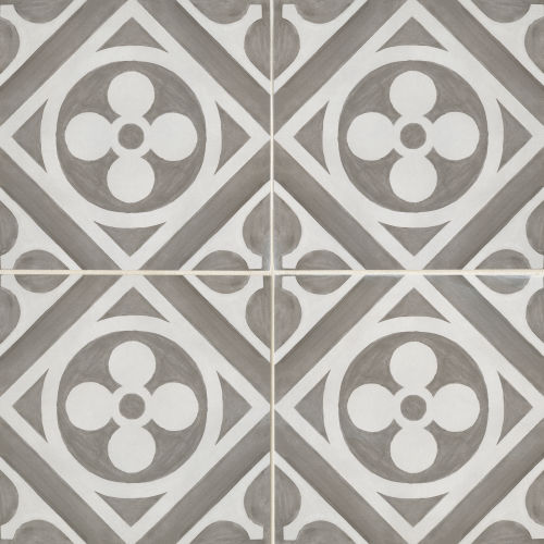 "Chateau 12"" x 12"" Decorative Tile in Canvas Smoke"