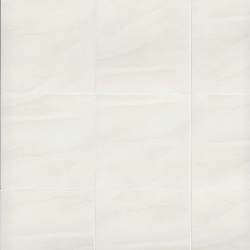 "Serenity 18"" x 18"" Floor & Wall Tile in White"