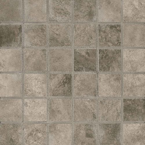 "Stonefire 2"" x 2"" Floor & Wall Mosaic in Grey"