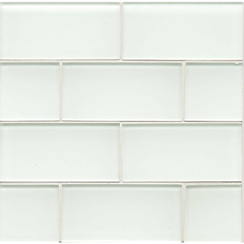 "Hamptons 3"" x 6"" Wall Tile in White Linen"