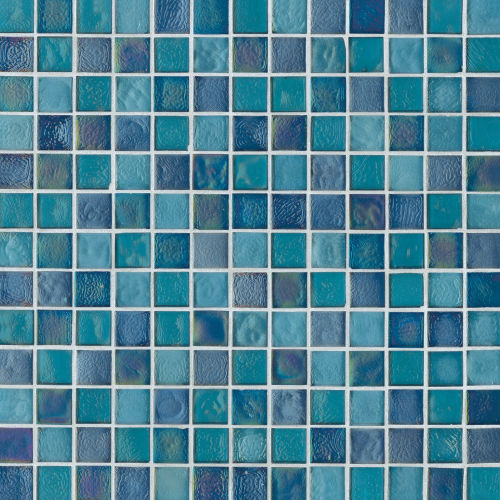 "Kahakai 7/8"" x 7/8"" Floor & Wall Mosaic in Deep Sea"