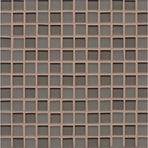 "Manhattan 1"" x 1"" Wall Mosaic in Ash"