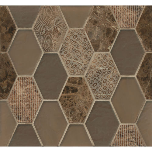 Panache Wall Mosaic in Leather
