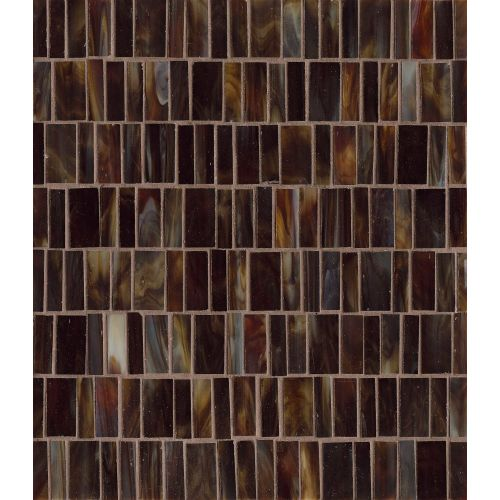 Retrospect Wall Mosaic in Mahogany