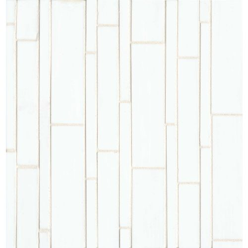 Retrospect Wall Mosaic in Palladium White