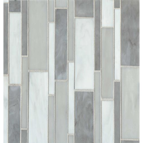 Retrospect Wall Mosaic in Silver Mist Blend