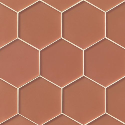 "Verve 4-7/8"" x 5-5/8"" Wall Mosaic in Coral Spice"