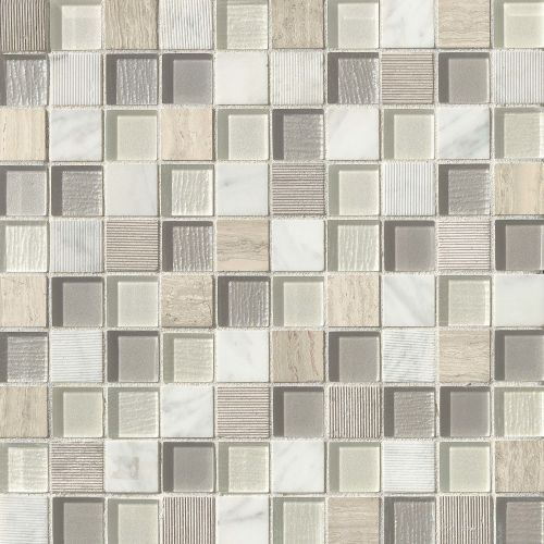 "Verve 1-1/8"" x 1-1/8"" Wall Mosaic in Impulse"