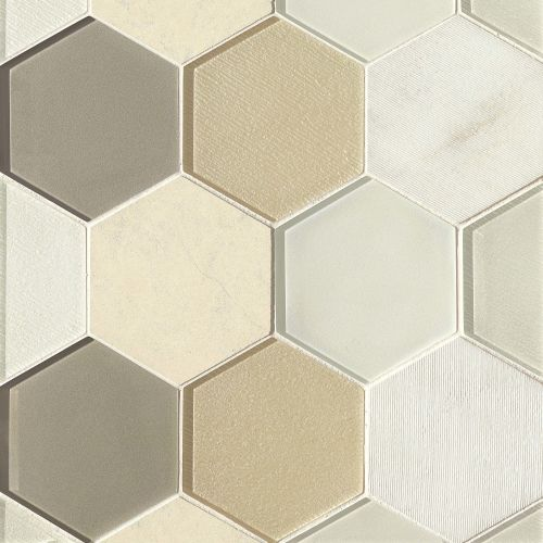 "Verve 4-7/8"" x 5-5/8"" Wall Mosaic in Sparkle"