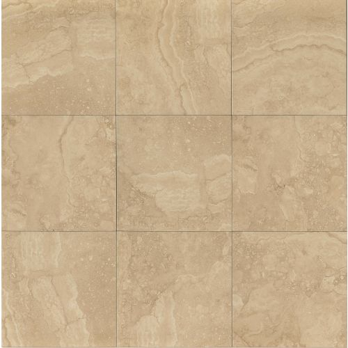 "Shady Canyon 18"" x 18"" x 1/4"" Floor and Wall Tile in Beige"