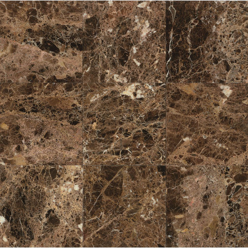 "Emperador Dark 18"" x 18"" Wall Tile"