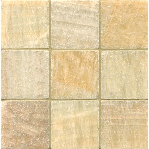"Sweet Honey Onyx 4"" x 4"" Floor & Wall Tile"