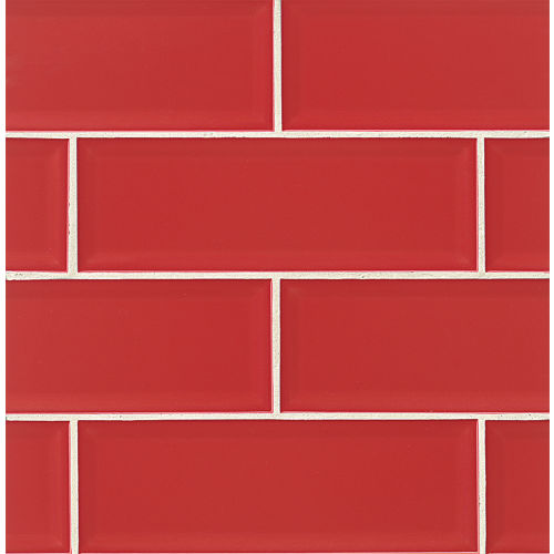 "Adamas 4"" x 12"" Wall Tile in Ruber"