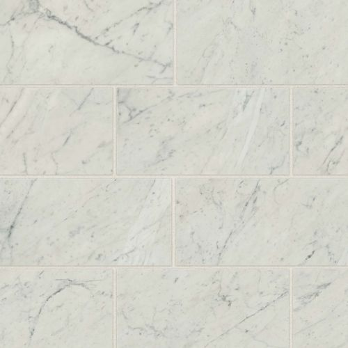 "Classic 2.0 12"" x 24"" Floor & Wall Tile in Bianco Carrara"
