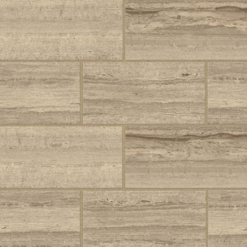 "Classic 2.0 12"" x 24"" Floor & Wall Tile in Travertino Chiaro"