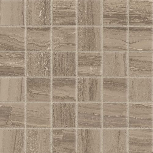 "Highland 2"" x 2"" Floor and Wall Mosaic in Beige"