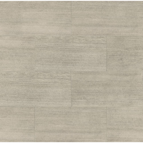 "Materia 3D 12"" x 24"" Floor & Wall Tile in Platinum"