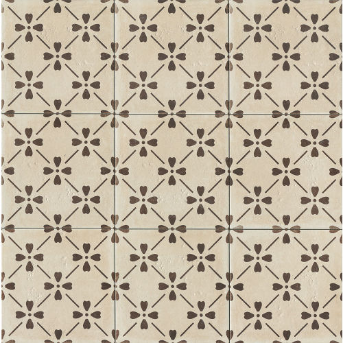 "Palazzo 12"" x 12"" Decorative Tile in Antique Cotto Bloom"