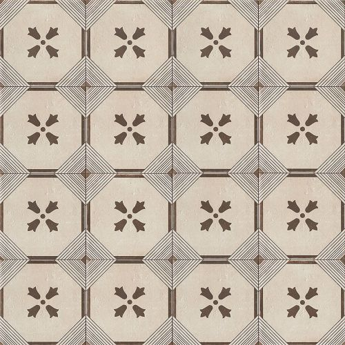 "Palazzo 12"" x 12"" Decorative Tile in Antique Cotto Dynasty"
