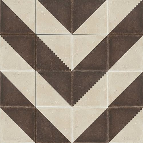 "Palazzo 12"" x 12"" Decorative Tile in Antique Cotto Villa"